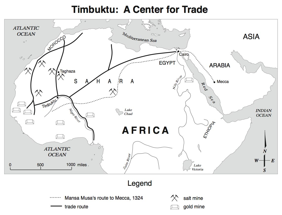 Picture of: Ancient Mali Gold Trade Routes Ancient Mali Trade Routes Vs European Trade Routes